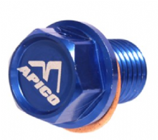 MAGNETIC SUMP DRAIN BOLT M12 X 15MM X 1.5 HONDA/YAM CR60-85 83-07, CR125-500 83-07, YZ250 97-20 BLUE